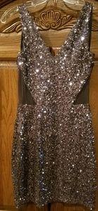 bebe sequin evening dress